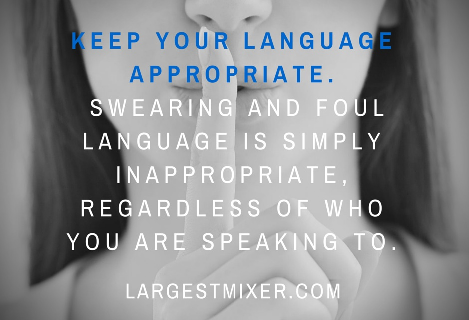 Networking Tip: Watch your Language